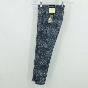 Wave Print Athletic Duo Dry Leggings Pants Medium